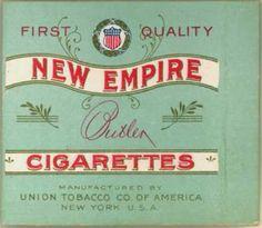 Union Tobacco Co. of America's Butler Cigarettes – New Empire