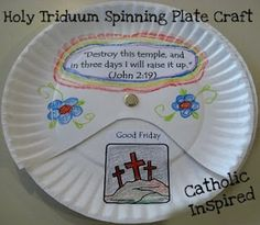 Paper Plate Spinner- Tells Easter Story with Verse.  Could also use for Worldless book / Jelly Bean ideas
