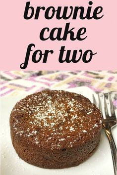 The perfect chocolate dessert to satisfy your sweet tooth! Easy brownie cake recipe for two