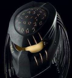 Ideal for chopper, cruiser, scooter and more. DOT approved for US safety standard. Size: S/ M/ L/ XL. Fits head circumference: S: to M: to L: to XL: to Custom Motorcycle Helmets, Motorcycle Gear, Motorcycle Events, Motorcycle Accessories, Predator Helmet, Predator Movie, Predator Alien, Airsoft Gas Mask, Airsoft Helmet