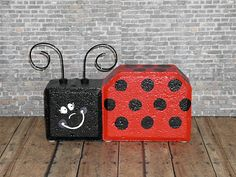 Painted Brick Paver Pals by WoodWinkles.deviantart.com on @deviantART