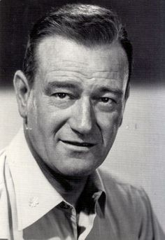 John Wayne . . . . Wonderful John Wayne, my hero.