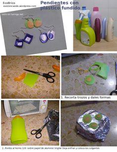 pendientes plastico