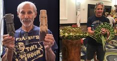 South Florida artists Will Anders (left) and Tom Fowner led popular craft classes at The Hukilau 2017. (Left photo by Heather McKean, right photo by The Atomic Grog)