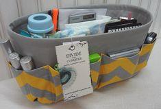 Purse - DIAPER BAG ORGANIZER insert / Reinforced, Stiff, Wipe-Clean Vinyl Bottom / 2 Elastic Loops / Sturdy / You choose color & size via Etsy