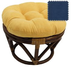 Blazing Needles Round Solid Microsuede Tufted Footstool Cushion- Lemon at Lowe's. Add a touch of style and comfort to your indoor furnishings with this microsuede footstool cushion. This cushion features a classic tufted cushion style Papasan Chair, Chair Cushions, Swivel Chair, Rattan Ottoman, Ottomans, Ottoman Furniture, Ratan Furniture, Furniture Ideas, Green Furniture
