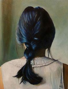 "Braid 26"" x 20"" Oil on canvas by artist Helena Hsieh"