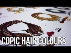 Copic Tutorial: Hair Colour Combinations - YouTube