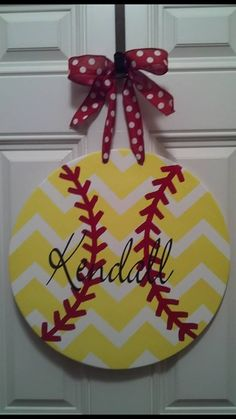 Personalized softball sign.