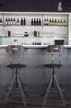great bar & stools. Aqua Restaurant + Milk and Honey Home