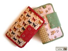 Wallets sewing pattern with 27 pockets  -- PDF
