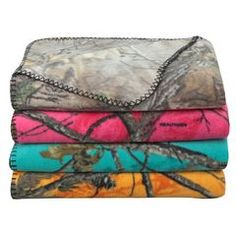 Santa brought the teal ones for Aaden and Destiney and a light pink one for Peyton last year. They are so soft. Realtree Camo 50 x 60 Printed Fleece Throw