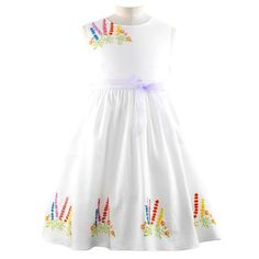 Posy Embroidered Dress - By Rachel Riley