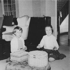 Bring back sewing baskets! This is me sewing with my friend, probably in I would have been nine and my friend is a year younger. This is the same friend who photographed me ten years later. See the previous photograph. Sewing Patterns Free, Free Sewing, Make Your Own Clothes, Sewing Baskets, Sewing Lessons, Pattern Cutting, Learn To Sew, My Friend, Baby Strollers