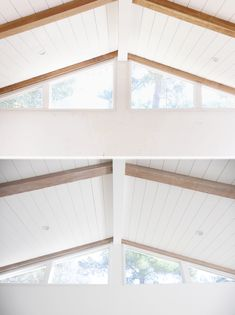 27 Wonderful White Wood Beams Ceiling Ideas For Cottage. Front yard landscaping ideas on a budget the combination of exquisite plants and thoughtful design will create a jaw dropping Painted Wood Ceiling, Painted Beams, Shiplap Ceiling, Wood Ceilings, Wood Beams, Vaulted Ceiling Decor, Ceiling Design, Ceiling Fan, Wood Interiors