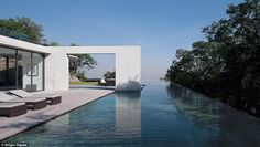 Large expanses of water, combined with simple lines to use space and nothingness in his designs, are a mainstay of Japanese self-taught architect Tadao Ando's designs, as illustrated with this example of his work: 'House in Monterrey', in Monterrey,