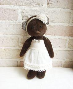 Vintage Teddy Bear Girl.