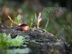 Bentwood ring. Indian apple wood with light green turquoise inlay.