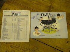 VINTAGE PEDIGREE PRAM BROCHURE 1957 and PRICE LIST | eBay