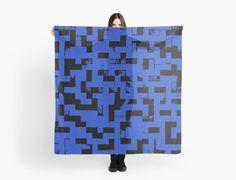 Line Art - The Bricks, tetris style, dark blue and black by cool-shirts