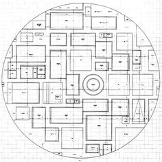 Plan of SANAA's 21st Century Museum of Contemporary Art in Kanazawa, Japan diagramming a permeable space of islands #urbanism #architecture
