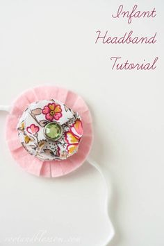 Lets make this clear, we do not know what the gender is of our baby, don't want to start rumors! However, since the day we knew we were p. Floral Headbands, Baby Headbands, Headband Tutorial, Baby Hair Bows, Having A Baby, Needle And Thread, Creative Inspiration, Hair Clips, Infant