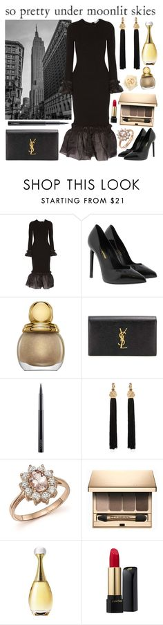 """09.02.2017"" by chrissy6 ❤ liked on Polyvore featuring Opening Ceremony, Yves Saint Laurent, Christian Dior, MAC Cosmetics, Bloomingdale's, Clarins and Lancôme"