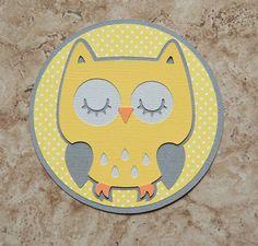 Owl invitation for birthday or baby shower - cricut