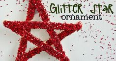 Follow these instructions to make this cute glitter star Christmas ornament for kids. They'll enjoy making them and seeing them on the tree.