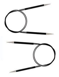 "Karbonz Circular Needle 32"" Knitting Supplies, Circular Needles, Carbon Fiber, Round Glass, Metal, Metals"