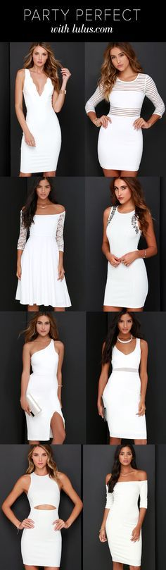 Find the perfect white dress for any occasion at Lulus.com!! With daily updates, Lulus.com has all the pieces for your party perfect look! #lovelulus