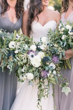 Anemone, peony and succulent wedding bouquets: http://www.stylemepretty.com/2017/02/28/a-whimsical-farm-wedding-for-meant-to-be-lovebirds/ Photography: Amy Rizzuto - http://amyrizzutophotography.com/ Assistant: Makina Saylor - http://mekinasaylor.com/