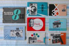 thingsorganizedneatly:    SUBMISSION: vintage camera instruction manuals  photo by Megan Barron