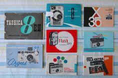 thingsorganizedneatly:    SUBMISSION: vintage camera instruction manuals  photo by Megan Barron