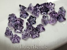 12mm Czech Pressed Glass Beads Flower Transparent by LaserBeads, $2.67  colori
