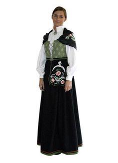 Østfoldbunad til dame - BunadRosen AS Norwegian Wedding, National Art, Ethnic Dress, Folk Costume, Traditional Outfits, Norway, Scandinavian, Blood, Culture