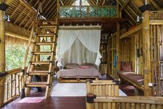 House in Gianyar Sub-District, Indonesia. Jungle Bamboo House with unique design, located in the embrace of nature on the river bank just about 9 km from the centre of Ubud, surrounded by rice fields, jungle, rivers and holy springs. You can spend unforgettable days here enjoying the beau...