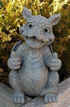 Gartenfigur Drache alles OK Babydrache Dekoration NEU | eBay
