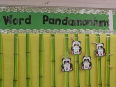 Word Wall - too cute!
