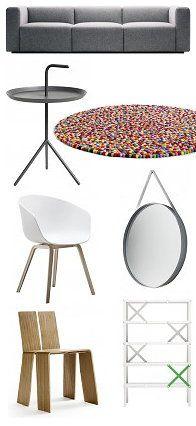 Hay Design - Design Brand Hay Furniture – Hay Sofa Mags, Hay DLM Side Table, Hay Strap Mirror, Hay Shanghay Chair, Hay About a Chair Chair, Hay Cano Cabinet & Hay Carpet Pinocchio!