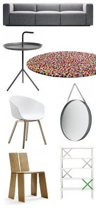Hay Design - Design Brand Hay Furniture – Hay Sofa Mags, Hay DLM Side Table, Hay Strap Mirror, Hay Shanghay Chair, Hay About a Chair Chair, Hay Cano Cabinet & Hay Carpet Pinocchio!