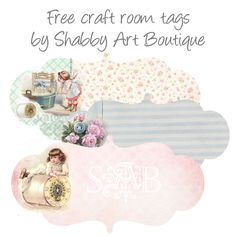 Shabby Art Boutique: SO RARE! Everything Kerryanne does with woodberry designs is high end, and impeccably designed ! Free printable shabby chic tags !
