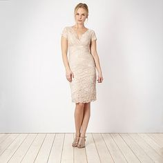 Cream tiered sequin lace dress - Evening & party dresses - Dresses - Women -