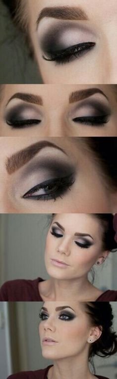 This is a very pretty makeup look! It is great for the night!!!