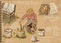 Carnet[s] de laine: Françoise et les teintures...