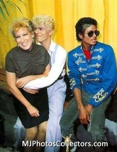 bete midler, david bowie and michael jackson