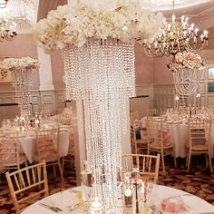 Decor by Reannemichelle from the weddingdecorators.co.uk with palmtreescatering.com Event Decor, Wedding Events, Chandelier, Ceiling Lights, Lighting, Home Decor, Candelabra, Decoration Home, Room Decor