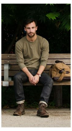 Dark Jeans Outfit, Brown Boots Outfit, Mens Brown Boots, Jeans And Boots, Men's Jeans, Mens Jeans Outfit, Dark Brown Boots, Men Boots, Mens Outdoor Fashion