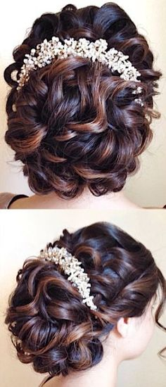 Featured Hairstyle: Heidi Marie (Garrett); hairandmakeupgirl.com; Wedding hairstyle idea.