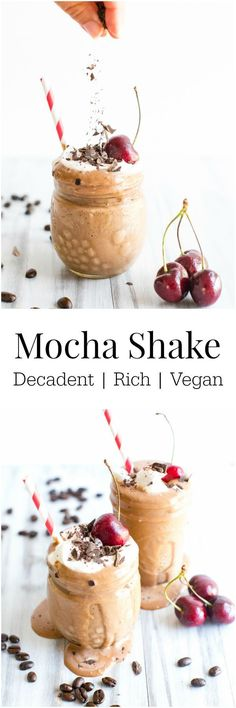 Nicecream and cashews make up the base of this rich, creamy and healthy shake. Quick and easy to pull together! | Vegan + Dairy Free + GF | Vanilla And Bean